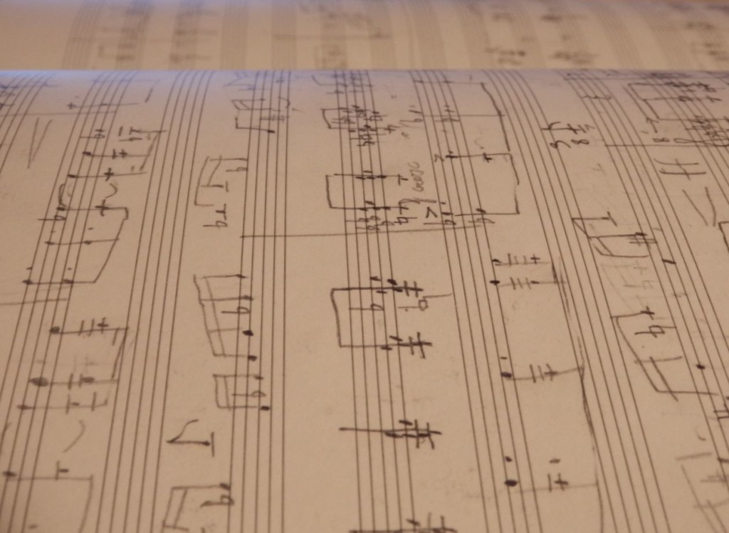 Handwritten sheetmusic